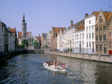 Boat Trips Along the Canals, Bruges (Brugge), Unesco World Heritage Site, Belgium