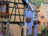 Houses, Neidermorschwir, Alsace, France