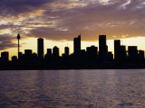 City Skyline in the Evening/Night, Sydney, New South Wales, Australia