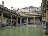 The Roman Baths, Bath, Unesco World Heritage Site, Somerset, England, United Kingdom