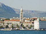 Coastal Mountains and Waterfront Town Buildings, Split, Dalmatian Coast, Croatia