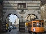 Street Tram, Milan, Lombardy, Italy