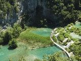 Walkway Through Turquoise Lakes, Plitvice Lakes National Park, Unesco World Heritage Site, Croatia