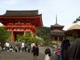 Monk Collecting Alms, Kiyomizu Dera Temple, Kyoto City, Honshu Island, Japan
