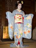 Geisha, Maiko (Trainee Geisha) Entertainment, Kyoto City, Honshu, Japan