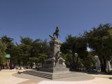 Magellan Statue in Main Square, Punta Arenas, Patagonia, Chile, South America