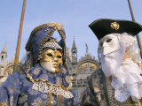 People in Masks and Costume, Venice Carnival, Venice, Veneto, Italy