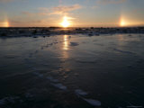 Sun Dogs, Polar Bear Tracks, Churchill, Hudson Bay, Manitoba, Canada