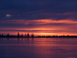 Sunrise at the Lake Near Churchill, Hudson Bay, Manitoba, Canada