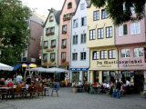 People Sitting at Outdoor Restaurant in the Old Town, Cologne, Germany