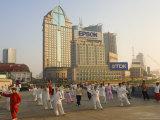 Morning Exercise, the Bund, Huangpu, Shanghai, China