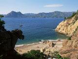 Beach Below Piana, Corsica, France, Mediterranean