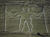 The Long Man, Wilmington Hill, Near Wilmington, South Downs, Sussex, England, United Kingdom