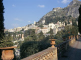 Taormina from the Public Gardens, Island of Sicily, Italy, Mediterranean