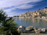 View Across Bay to the Old Town, Menton, Alpes-Maritimes, Provence