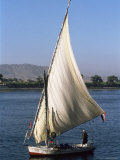 Felucca on the River Nile, Egypt, North Africa, Africa