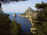View to Isla Colomer from Formentor Peninsula, Majorca, Balearic Islands, Spain