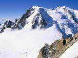 View to Mont Blanc, Aiguille Du Midi, Chamonix, Haute-Savoie, Rhone-Alpes, France