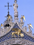 Detail of St. Mark's Basilica, Piazza San Marco (St. Mark's Square), Venice, Veneto, Italy