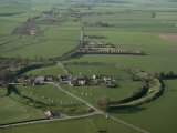 Aerial View of Avebury, Unesco World Heritage Site, Wiltshire, England, United Kingdom