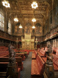 The Lords Chamber, House of Lords, Houses of Parliament, Westminster, London, England