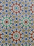 Detail of Tilework, the Royal Palace, Fez, Morocco, North Africa, Africa