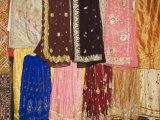 Wonderful Rajasthani Fabric Shops, Udaipur, Rajasthan State, India