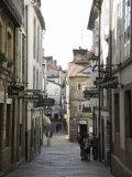 View of Rua Da Raina, Santiago De Compostela, Galicia, Spain