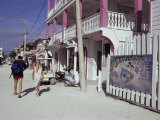 San Pedro Main Street, Ambergris Cay, Belize, Central America
