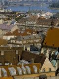 View Over Bratislava to the River Danube, Slovakia