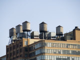 Water Towers on Building, Manhattan, New York City, New York, USA
