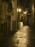 Night Scene, Santiago De Compostela, Galicia, Spain