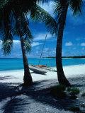 Outrigger Canoe on a Palm-Fringed Beach, Marshall Islands