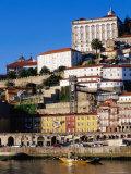 Douro River, Ribeira Area and Cathedral, Porto, Douro, Portugal