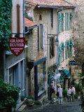 Street in Town, Cordes-Sur-Ciel, Midi-Pyrenees, France