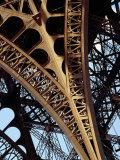 Eiffel Tower Architectural Detail, Paris, Ile-De-France, France