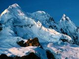 Mountain Peaks Under Snow on Vilcanota Trek, Vilcanota, Cuzco, Peru