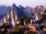 Hua Shan Sacred Mountain from East Peak, Shaanxi, China