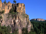 Battleship Rock in the Jemez Mountains, New Mexico