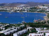 View of Town and Harbour, Bodrum, Mugla, Turkey
