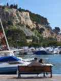 Fishing and Leisure Boats Moored at the Key Side, Harbour in Cassis Cote d'Azur, Var, France