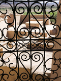 Taourirt Kasbah Viewed Through Lattice Window, Ouarzazate, South of the High Atlas, Morocco