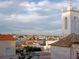 Skyline Views with Traditional Rooftops and Bell Tower, Tavira, Algarve, Portugal