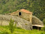 House Between Rocks of Porto and Ota, Corsica, France