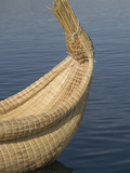 Bow of Reed Boat, Uros Islands, Floating Islands, Lake Titicaca, Peru