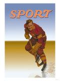 Hockey Player Shredding Ice