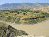 Hwang Ho, the Yellow River, in Qinghai Province, China