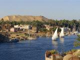 Elephantine Island and River Nile, Aswan, Egypt, North Africa