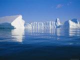 Icebergs Exhibiting Fluting and Honeycomb Textures, Antarctica