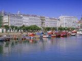 Colourful Boats in Port, La Coruna, Galicia, Spain, Europe